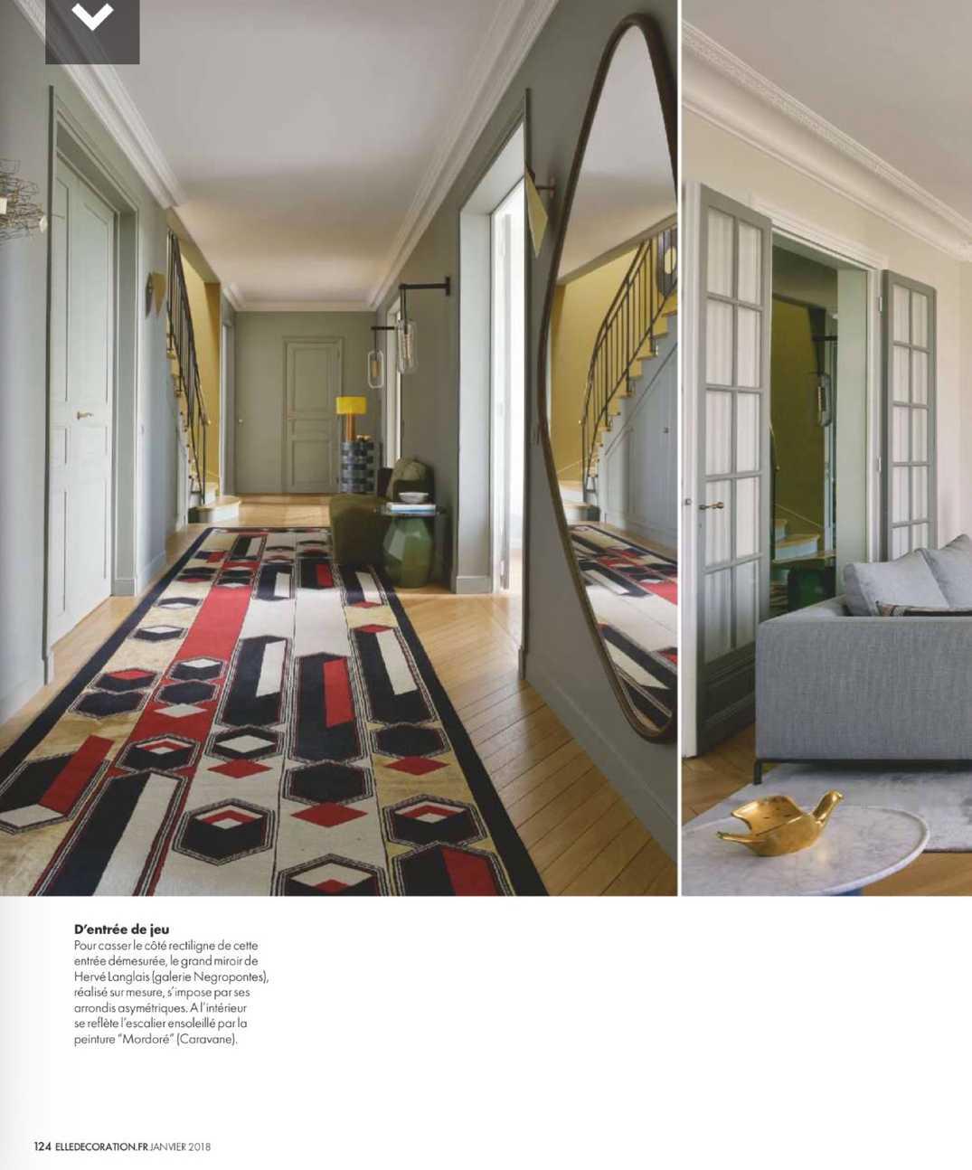 Grand Miroir D Entrée elle décoration - january 2018 | valerie pasquiou interiors